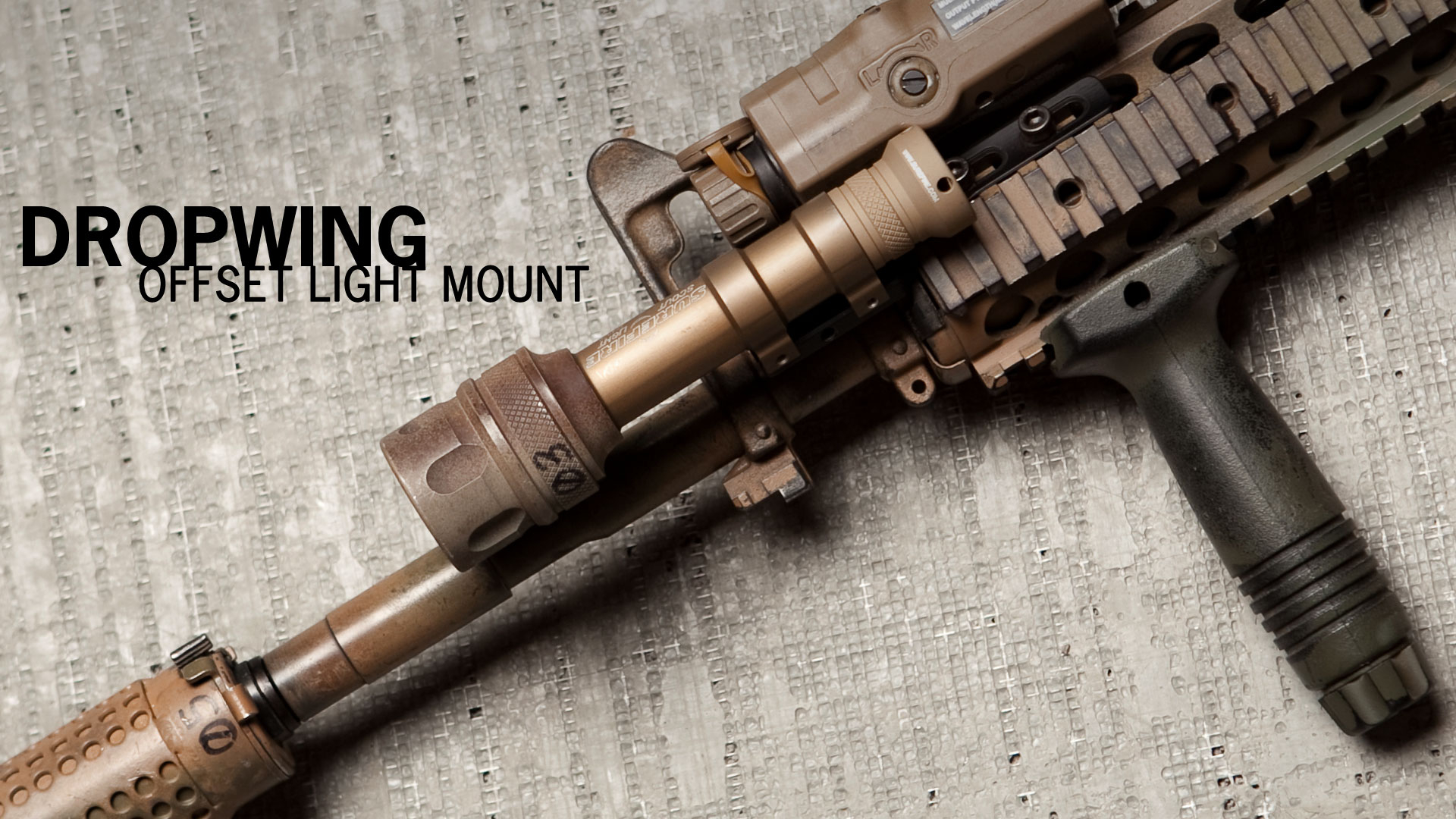 Dropwing Offset Light Mount