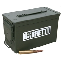 Barrett Factory XM33 Ball .50BMG 661 Gr. - 120 Round Ammo Can