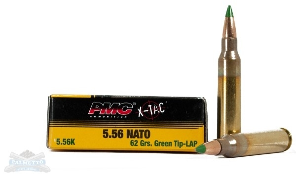 PMC X-Tac 62 gr. Green Tip 5.56 Ammunition 1000 rd. case