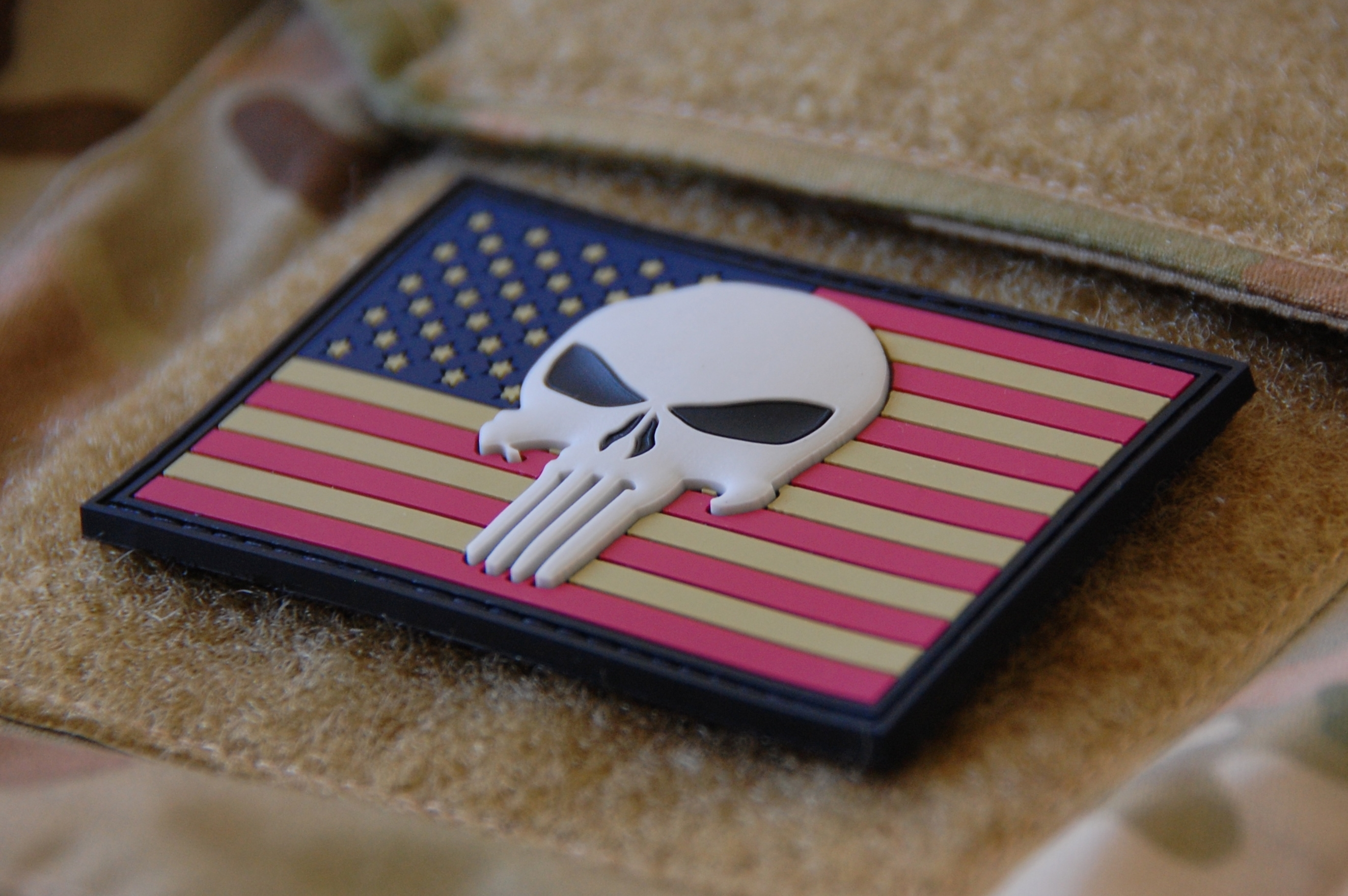Patriotic 3D Punisher PVC patch