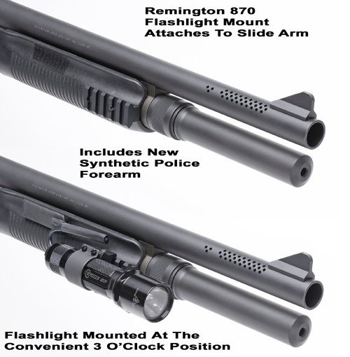 GG&G Remington 870 Forearm Flashlight Mount