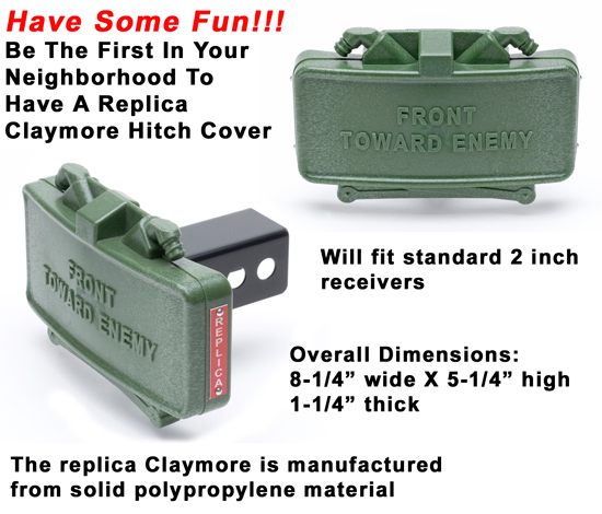 GG&G Claymore Mine Hitch Cover - Replica