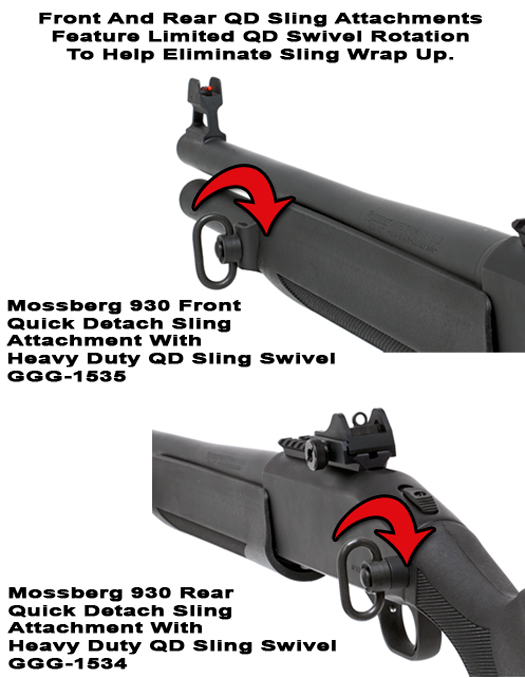 Mossberg 930 Quick Detach Front And Rear Sling Attachments