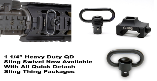 GG&G Quick Detach Sling Thing for Rails w/ HD Swivel