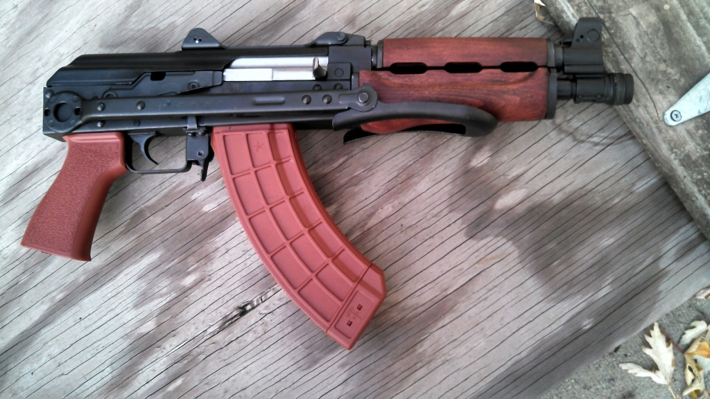 AK-47 30-ROUND MAGAZINE in RED BAKELITE by US Palm