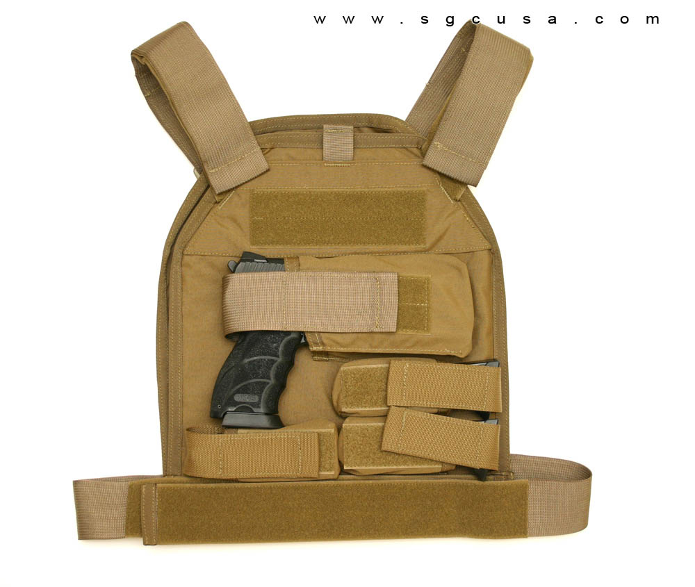 US Palm Defender Level 3A Armor and LARGE Vest - RH Handgun