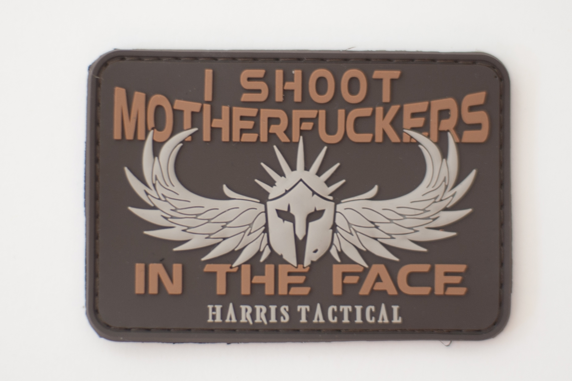 I Shoot MF'ers In The Face PVC Patch for FDE or Coyote