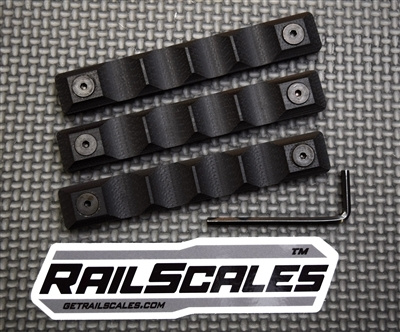 KEYMOD Railscales Long Grip Panels - Set of 3 - BLK