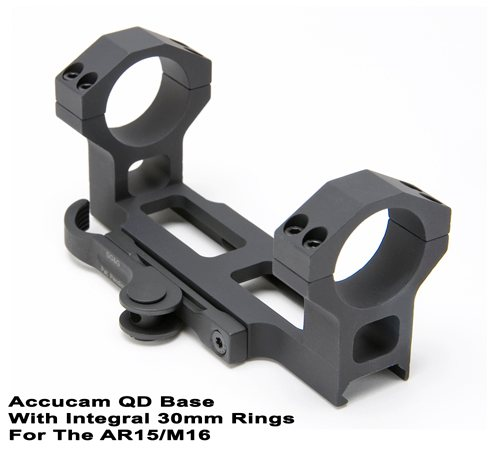 GG&G Accucam QD Base with Integral 30mm Rings for the AR15