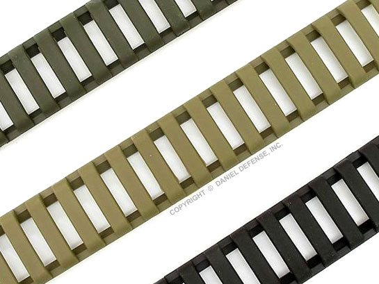 Santoprene Rail Ladders for M1913 Picatinny Rails Foliage Green