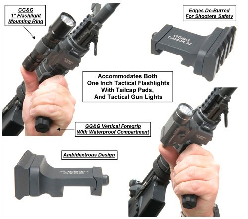 GG&G Offset Flashlight Mount for 1913 Rails