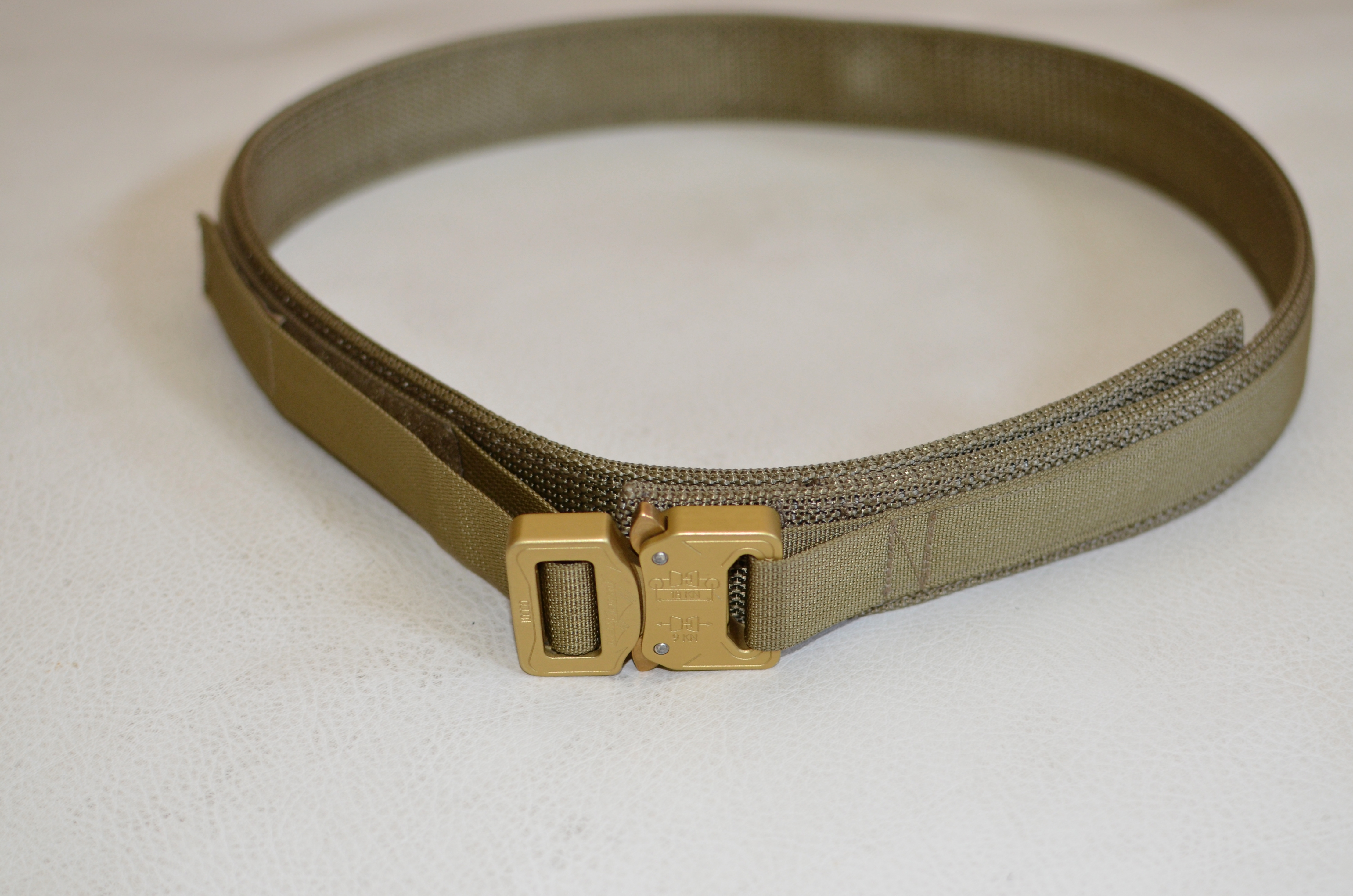 S.O.E. E.D.C. Every Day Carry Belt COYOTE With-Velcro Lining