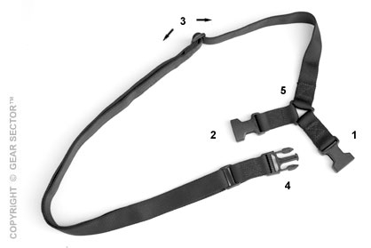 ASP Single Point Weapon Sling in Black