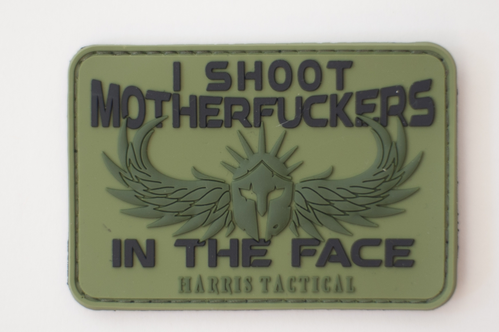 I Shoot MF'ers In The Face PVC Patch for OD Green