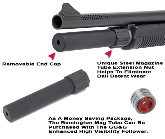 Remington 870 1100 11-87 Magazine Tube Extension (2-Shot)